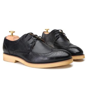 Casual Men Oxfords Formal Shoes - Black - 5