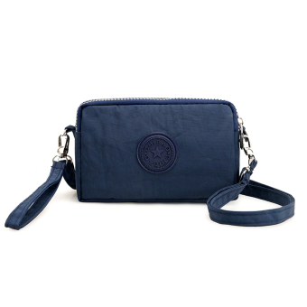 Casual nylon cross-body women's bag women's wallet (Dark blue color)