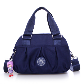 Casual nylon shoulder cross-body shoulder bag cloth bag (Dark blue color)