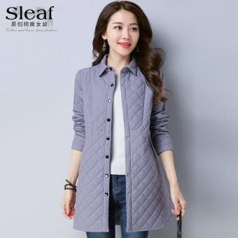 Casual plus cotton solid color shirt long-sleeved shirt (Gray)