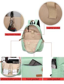Casual Solid Women Backpack School Bag Large Capacity For Teenagers Girls Simple Travel Bags Lady Back Pack Bagpack (Black) - intl - 4