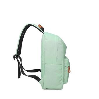 Casual Solid Women Backpack School Bag Large Capacity For Teenagers Girls Simple Travel Bags Lady Back Pack Bagpack (Black) - intl - 2
