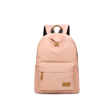 Casual Solid Women Backpack School Bag Large Capacity For TeenagersGirls Simple Travel Bags Lady Back Pack Bagpack (Pink) - intl