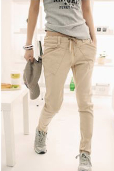 Casual Sports Harem Pants (Khaki)
