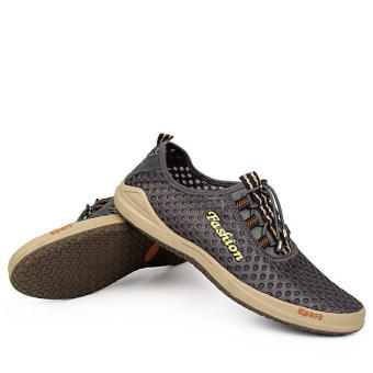 Casual Sporty Lace-Ups Shoes- Khaki - picture 2