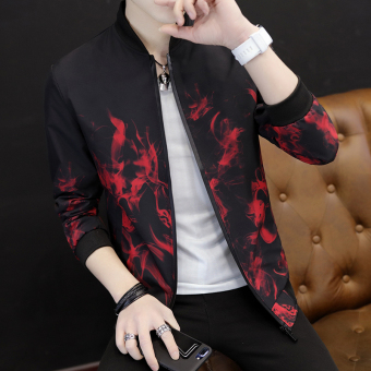 Casual Spring and Autumn New style young men jacket men's jacket (703 under the red)