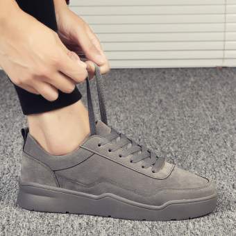 Casual winter New style student shoes thick bottomed elevator shoes (Dark gray)