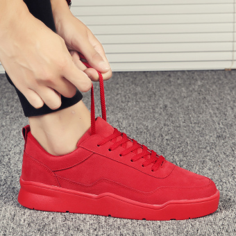 Casual winter New style student shoes thick bottomed elevator shoes (Red)