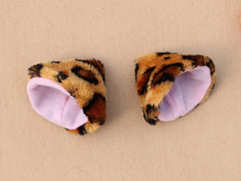 Cat Ears Hair Clip Hairpin Cosplay - Leopard Print