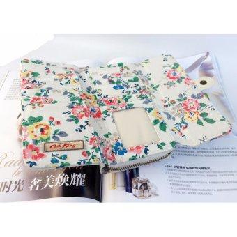 Cath King Fashion PVC Waterproof Printed Flower Multi-functionWallet Purse For Women Ladies Girls- Flowers - intl - 4
