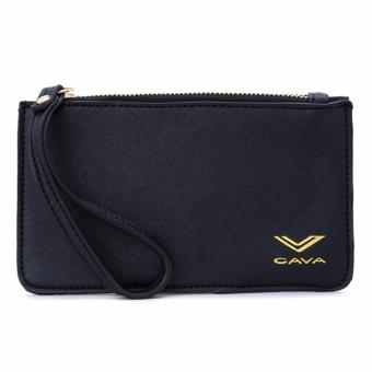 Cava C17MR747BK Saffiano Slim Wallet Wristlet (Black) Price Philippines