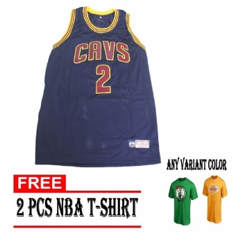 Cavaliers 2 Irving Nba Basketball Jersey Sando navy blue for Adultwith nba t-shirt