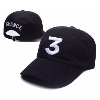 Chance The Rapper 3 Dad Hat Baseball Cap Adjustable LetterEmbroidery Hip Hop Black - intl Price Philippines