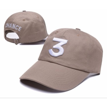 Chance The Rapper 3 Dad Hat Baseball Cap Adjustable LetterEmbroidery Hip Hop Khaki - intl Price Philippines