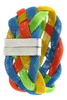Charm Braided Bracelet (Blue, Yellow, Orange, Green)