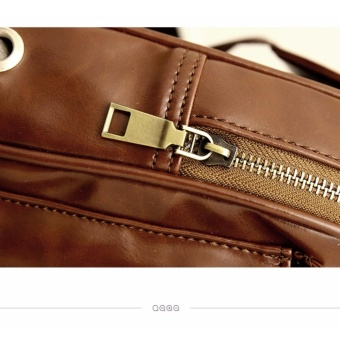 Chest Bag MEN Anti-theft Clasp Leather Bag Messenger Bag FashionMen's Bags - 5