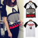 Chic cartoon style women's short sleeved Top T-shirt (T no angle VISHARK)