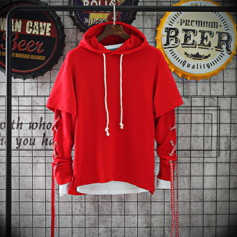 Chic Plus velvet autumn and winter New style thick hoodie (Red)