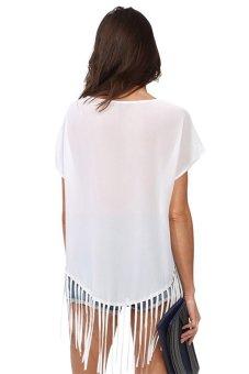 Chicnova Short-sleeve Chiffon Shirt (White) - picture 2