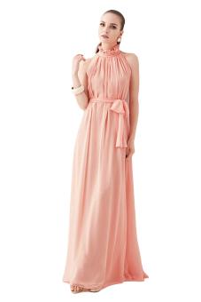 Chiffon Maxi Long Dress (Pink)