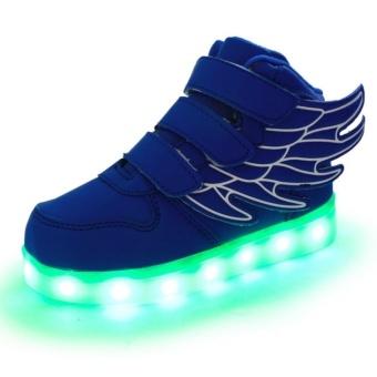 Children Boys Girls Running wings shoes Luminous Sneakers Led Light Up Kids sneaker - intl - 3