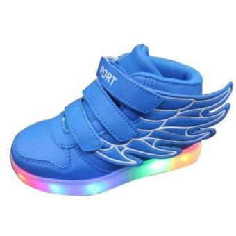 Children Boys Girls Running wings shoes Luminous Sneakers Led Light Up Kids sneaker - intl - 2
