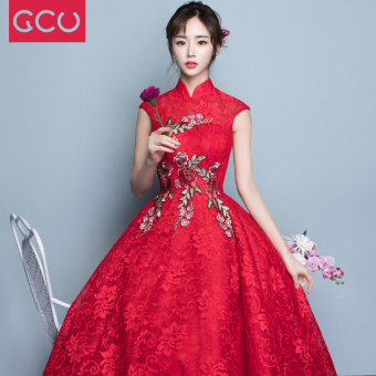 Chinese red spring New style dress wedding dress