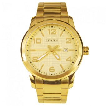 Citizen Quartz Standard Men's Gold Tone Stainless Steel Strap Watch BI1022-51P