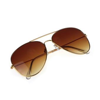 Classic Aviator Metal Sunglasses - Gold