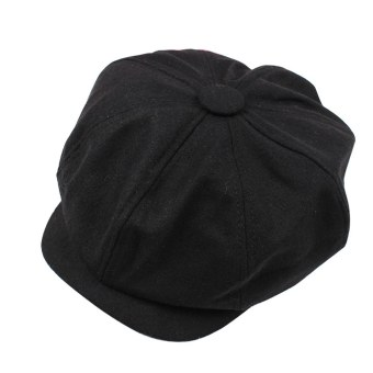 Classic Newsboy Cabbie Gatsby Hat Flat Ivy Cap Golf Tweed WoolDriving Beret HatBlack Price Philippines