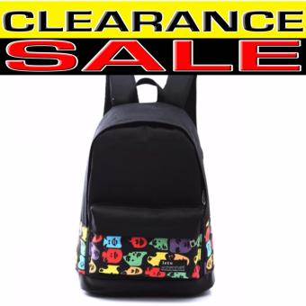 Clearance Sale !!! Pilot Canvas Fashion 5008 School StudentBackpack Casual Outdoor Travel Backpack (Black)