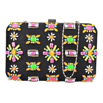 Closet Candy Clutch JLB08 (Black/Multicolored)
