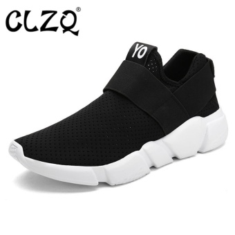 CLZQ 2017 New Light Running Shoes for Men Breathable Outdoor SportShoes Summer Cushioning Male Shockproof Sole Sneakers-Black - intl Price Philippines
