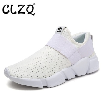 CLZQ 2017 New Light Running Shoes for Men Breathable Outdoor SportShoes Summer Cushioning Male Shockproof Sole Sneakers-White - intl Price Philippines