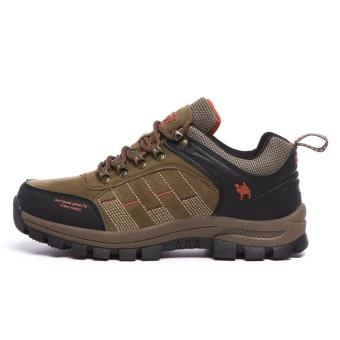 CLZQ 2017 New Men and Women Outdoor Hiking Shoes WaterproofAnti-skid Wear-resistant Climbing Sports Outdoor Footwear-Khaki -intl - 3