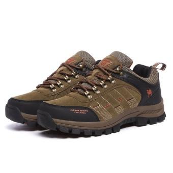 CLZQ 2017 New Men and Women Outdoor Hiking Shoes WaterproofAnti-skid Wear-resistant Climbing Sports Outdoor Footwear-Khaki -intl - 4