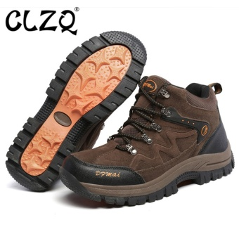 CLZQ 2017 New Outdoor Climbing Men and Women Low Waterproof Anti -Skid Walking Shoes Outdoor Hiking Shoes Couple Large Size36-48(Brown) - intl