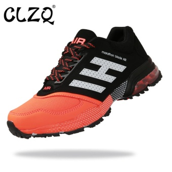 CLZQ Men Sneaker Running Shoes Air Cushion Training Breathable MeshSports Shoes Jogging Footwear Walking Athletics Shoes-Orange - intl