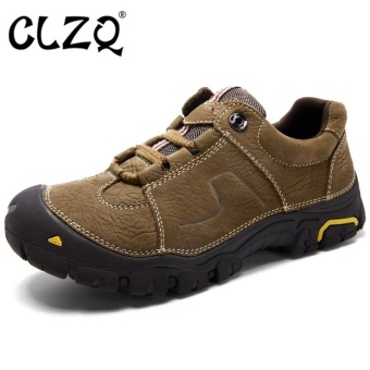 CLZQ Mens Durable Hiking Shoes Mountain Climbling Shoes SuperBreathable Trekking Shoes Outdoor-Khaki Size38-45 - intl Price Philippines