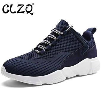 CLZQ Original Men's Shoes Sport Shoes Men Sneaker BreathableWere-resistant Superstar Shoes Light Running Gray Shoes Men-Blue -intl