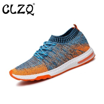 CLZQ Running Shoes for Mens Outdoor Sport Brand Air Mesh BreathableSneakers Super Light Damping Soft Lace Up Shoes-Orange - intl