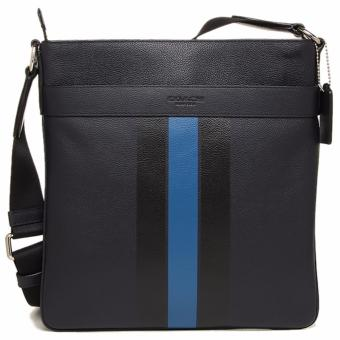Coach Charles Crossbody In Varsity Leather - Black