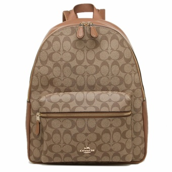 Coach Charlie Back Pack In Signature - Khaki
