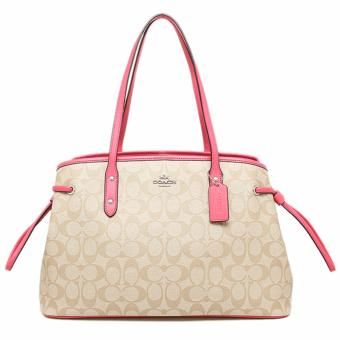 Coach Drawstring Carryall In Signature-Pink
