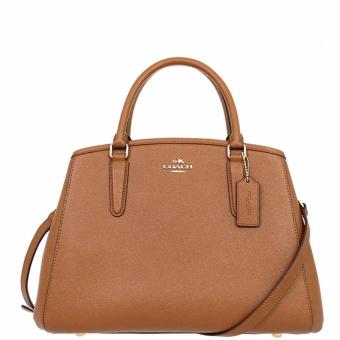 Coach Margot Carryall in Crossgrain Leather-F57527-Brown