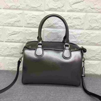 COACH MINI BENNETT SATCHEL IN METALLIC LEATHER SILVER/GUNMETAL - 4