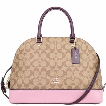 Coach Sierra Satchel in Colorblock Signature Pink - F57494