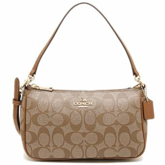 Coach Top Handle Pouch in Signature - Khaki