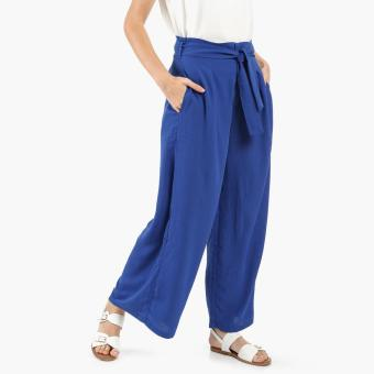 Coco Cabana Pleated Palazzo Pants (Royal Blue) Price Philippines