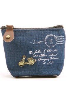 Cocotina Retro Coin Bag Purse Wallet Card Case - Motorcycle Decor